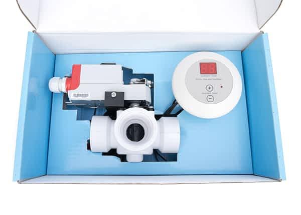 elektrische driewegkraan Poolsolar met regelaar 50mm